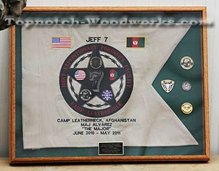 military pennant display case
