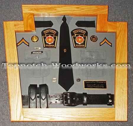 police uniform display case