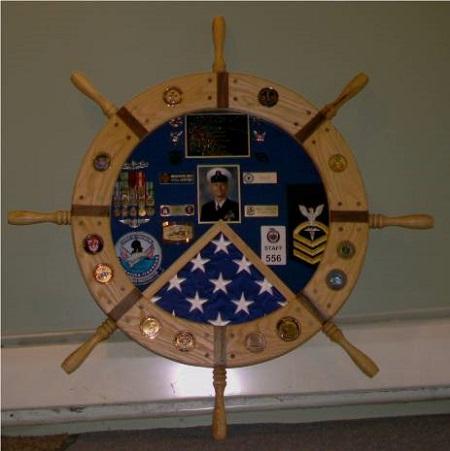 ship wheel shadow box123