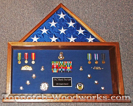 us Marine display and shadow box