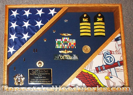 us navy shadow box with flags