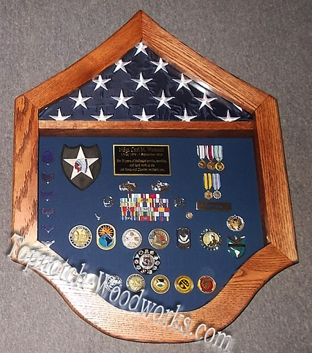 usaf Master Sgt military shadow box
