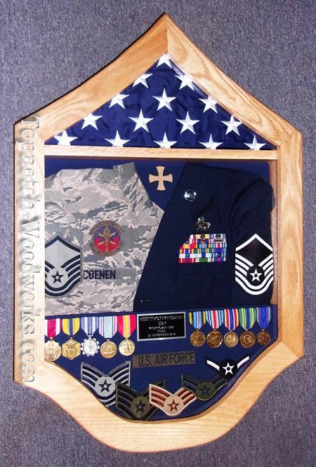 usaf msgt military shadow box