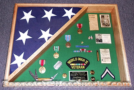 world war 2 military shadow box