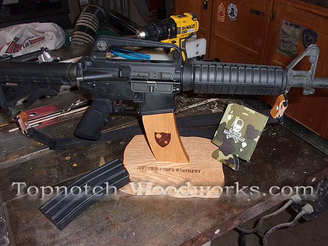 AR15 engraved display stand