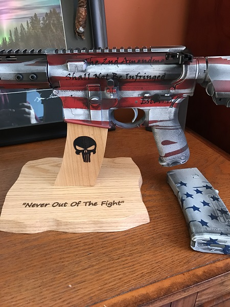AR15 punisher display stand