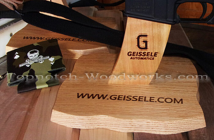 Ar15 rifle display stand engraved