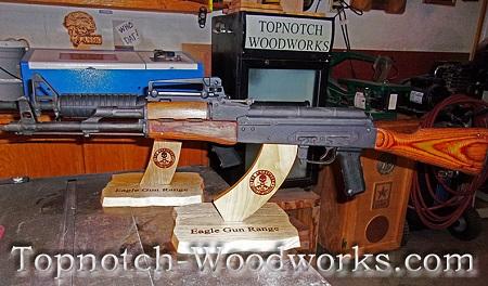 Custom AR15 rifle display stand