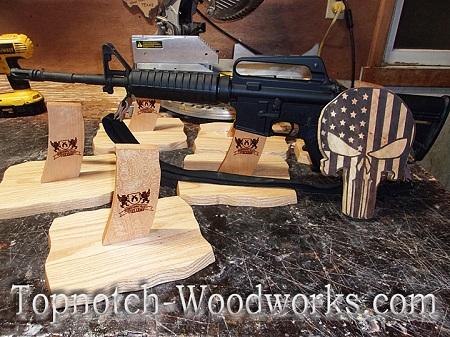 Custom made AR15 rifle stand