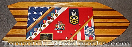 Surfboard Shadow box USCG