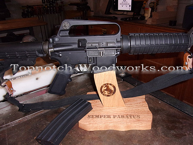 Wooden stand for Ar15