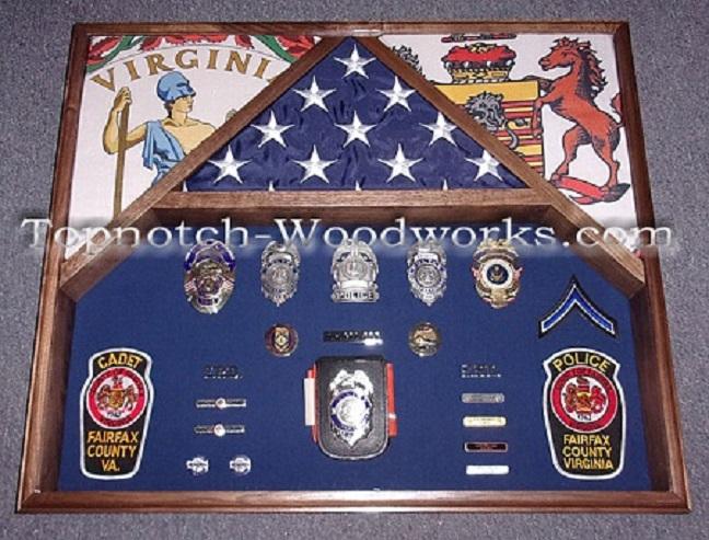 Viginia police shadow box