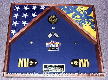 Public Health Service shadow box with flags