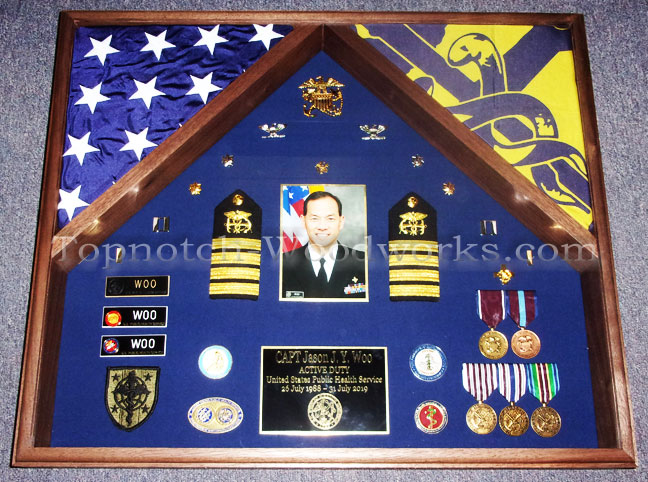 USPHS retirement shadow box for officers