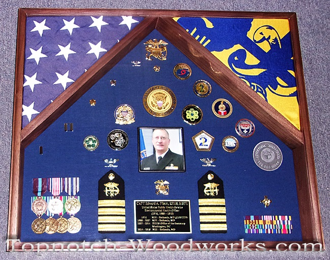 USPHS shadow box with photo